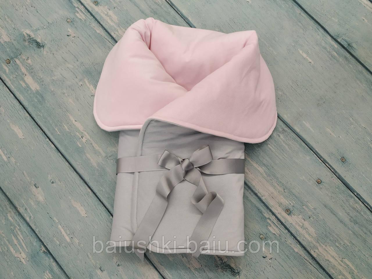 """Конверт одеяло плед зимний в детскую коляску/кроватку/на выписку """"Нежность"""" (плюшевый, синтепон)"""