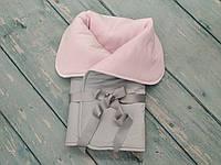 """Конверт одеяло плед зимний в детскую коляску/кроватку/на выписку """"Нежность"""" (плюшевый, синтепон), фото 1"""