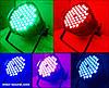Прожектор Led par 54x3 RGB(W) 3в1. Концертный свет, заливка, светомузыка, фото 2