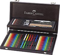 Акварельные цветные карандаши Faber Castell Art & Graphic COMPENDIUM 110088 в деревянной коробке (3х12 цв.)