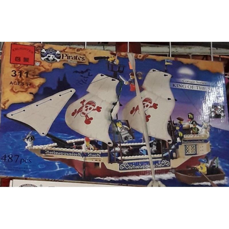 """Конструктор """"Пиратский корабль"""" Brick 311 487 деталей"""
