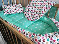 Кокон-гнездышко, мягкая кровать 0-18 мес с дополнительным матрасиком