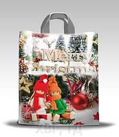"""Пакет новогодний  подарочный Петля """"Merry Christmas"""" 42*50+3"""