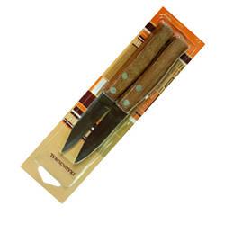 Нож кухонный 17см с деревянной ручкой, 2шт