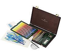 Акварельные цветные карандаши Faber Castell ALBRECHT DURER 117506 в деревянной коробке (48 цв.)