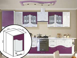 Кухонна секція навісназі склом В 40 Ск Віта Світ Меблів