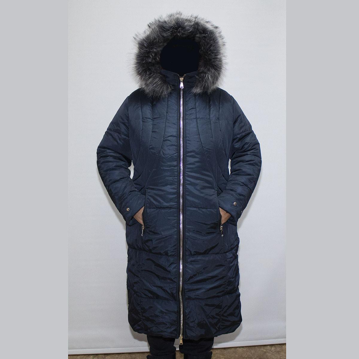 e94240e8ef7 Куртка-пальто женская зимняя большого размера 58-64 K955G оптом и в ...