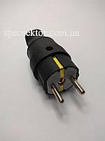Вилка електрична К2 ККР 2101 пряма каучук