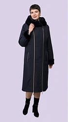 Красивое женское пальто зимнее с капюшоном