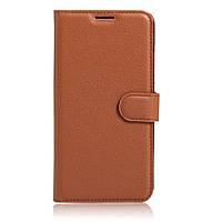 Чехол (книжка) Wallet с визитницей для Lenovo K6 Note / K6 Plus Коричневый