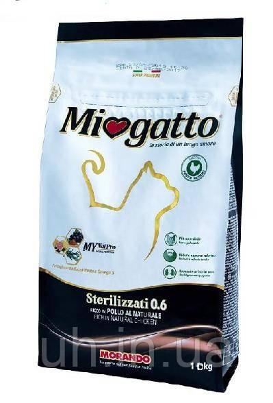 Miogatto Sterilizzatti корм для стерилизованных кошек с курицей 10КГ