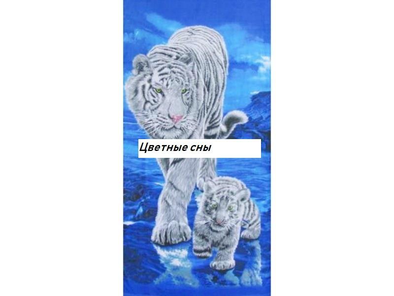 Пляжное полотенце Тигрица с тигренком