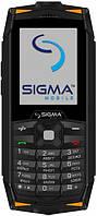 Телефон Sigma mobile X-treme DR68 Black/orange. Гарантия в Украине 1 год!
