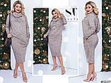 Комфортное и стильное платье воротник-хомут, боковые карманы р. 50,52,54, фото 2