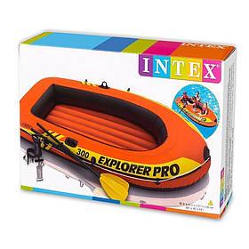 Надувная лодка Intex 58358 Explorer Pro 300 Set 244x117  комплект