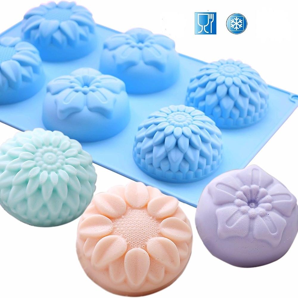 Силиконовая форма для мыла Цветы Хризантема Подсолнух
