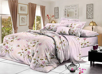 Евро комплект постельного белья 200*220 из ранфорса Настроение весна