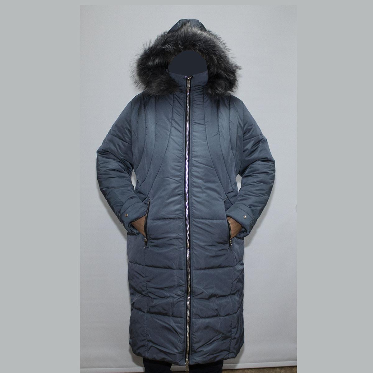 Пальто женское зимнеебольшого размера Супербаталфабричный пошив K955G