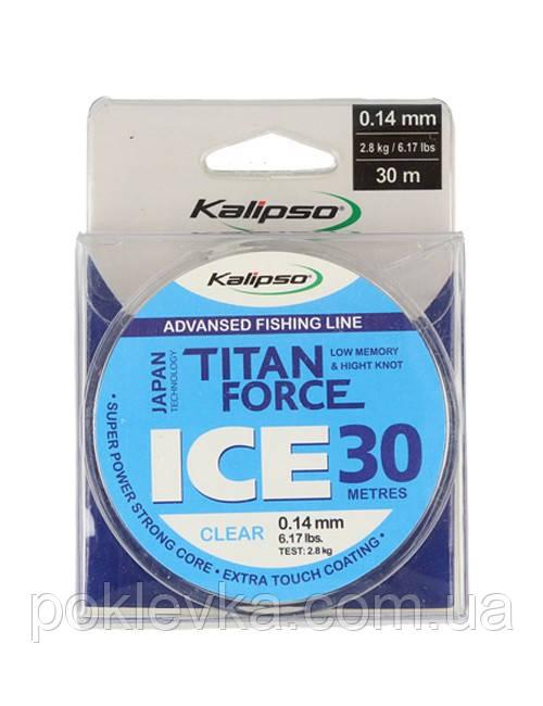 Леска Kalipso Titan Force Ice CL 30м 0.14мм