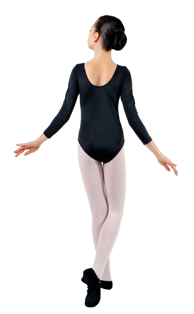 5e5faed0e9388 Купальник для танцев и гимнастики с длинным рукавом Rivage Line 6029  черный, бифлекс, цена 225 грн., купить в Одессе — Prom.ua (ID#33766717)