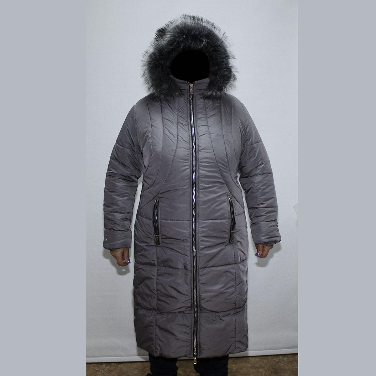 8e6ebbd0e46 Пальто женская зимняя большого размера 58-64 K1955G оптом и в ...