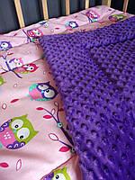 Детское одеяло хлопок, плюш, утеплитель 100*120 см