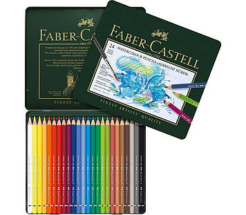 Акварельні кольорові олівці Faber Castell ALBRECHT DURER 117524 в металевій коробці (24 кол.)