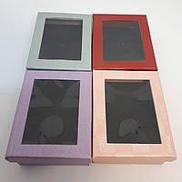 Картонная коробочка для украшений под набор с окошком