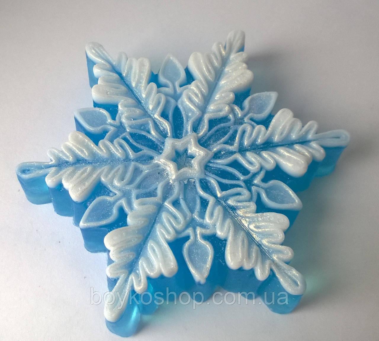 Силиконовая форма снежинка  3D