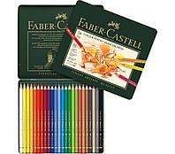 Набор цветных карандашей Faber Castell POLYCHROMOS 110024 в металлической коробке (24 цв.)
