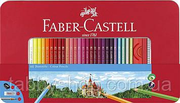 Кольорові олівці Faber Castell CLASSIC 115894 в металевій коробці + аксесуари (60 кол.)