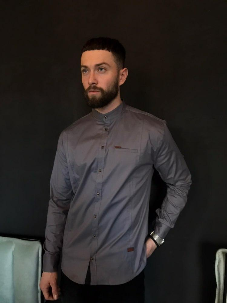 547efc353b5 Рубашка мужская серая - MILLIONAIRE оптом мужская одежда в Черновцах