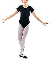 Купальник для танцев с рукавом-футболка Dance&Sport N 6028-2 черный, хлопок