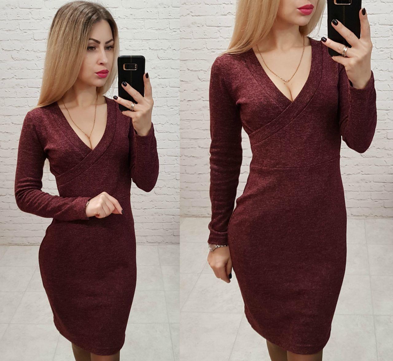 Платье вечернее, модель 802, цвет - марсала