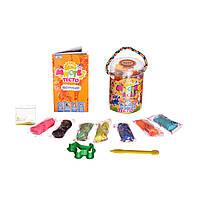 Набор для творчества Strateg Набор для творчества Мистер тесто, в блистере, с блестками, 7 цветов (71106)