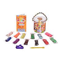 Набор для творчества Strateg Набор для творчества Мистер тесто, в блистере, с блестками, 12 цветов (71101)