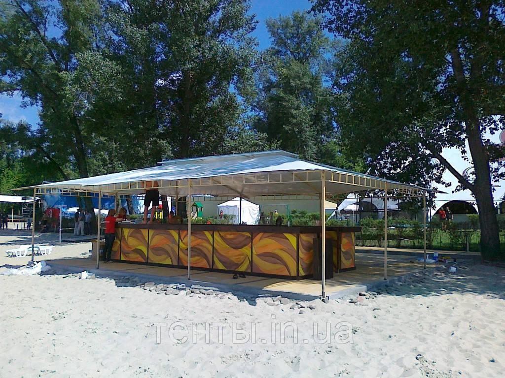 """Тентовый навес """"Кафе на пляже"""""""