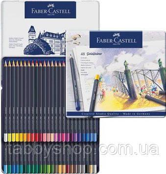 Кольорові олівці Faber Castell GOLDFABER 114748 в металевій коробці (48 кол.)