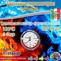 "Cewal TRP 80 VI термоманометр аксиальный фронтальный Ø80 1/2"" 120°С 6 бар"
