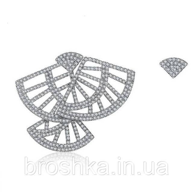 Асимметричные серьги джекеты фламенко
