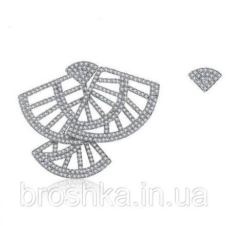 Асимметричные серьги джекеты фламенко, фото 2