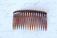 Гребешок для волос 8 см коричневого цвета, фото 1