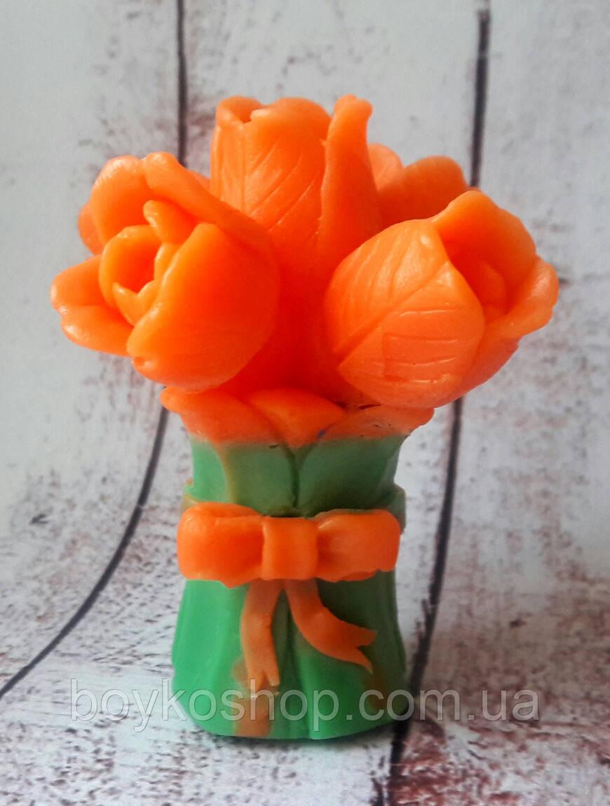 Форма 3Д Букет тюльпанов с бантом б/у