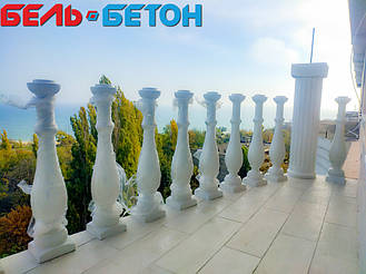 Балюстрада белая в Черноморске | Балясины бетонные в Одесской области 1