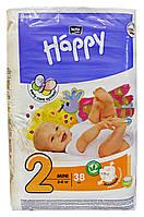 Подгузники Bella Happy Mini 2 (3-6 кг) - 38 шт.