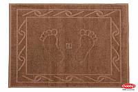 Махровое полотенце для ног Hobby. Hayal коричневого цвета, размер 50х70 см
