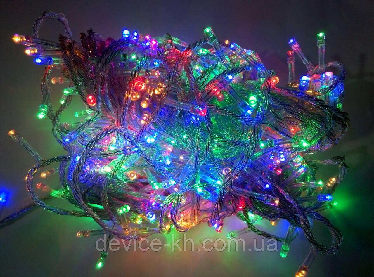 Гирлянда прозрачная 300 лампочек