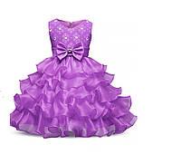Платье на выпускной в сад фиолетовое  на 6-7  лет
