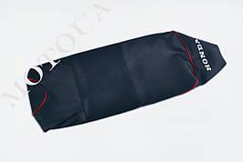 Чехол сиденья HONDA DIO AF-27 (с надписью HONDA) EVO красный кант