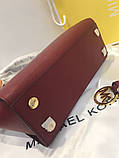 Сумка Майкл Корс Michael Kors Selma 28 см, натуральная кожа, цвет марсала, фото 9